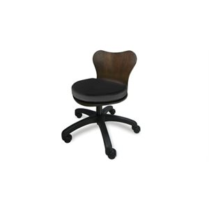 CONTINUUM Deluxe Technician Chair - Wood with black finish (Pedicure Only)+