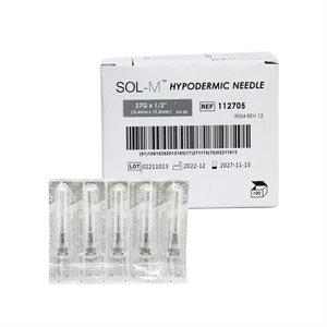 AIGUILLES HYPODERMIQUES (100) 27G - 0.5 pouce