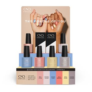 CND Vinylux The Colors of You Pop Display -
