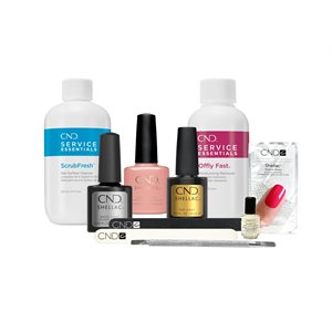 CND Shellac Top / Base / Essential Kit de Manucure Nude Knickers