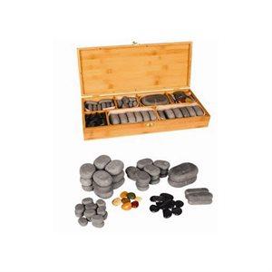 Stones (57 Basalt Stones + 7 Chakra stones) only +