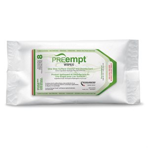 """Virox PreEmpt Wipes Bags (8) 6""""x7 inches -"""