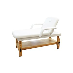WOODEN MASSAGE TABLE SILVER -