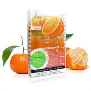 Voesh Pedicure en boite (4 etapes) Tangerine